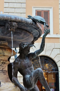 The Fontana delle Tartarughe (the Turtle Fountain) dates from the 1580s. The turtles weren't added until the 1690s, perhaps by Bernini.