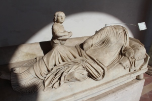 Late C1stAD funerary monument of a lady