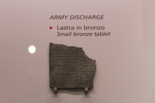 An army discharge chit
