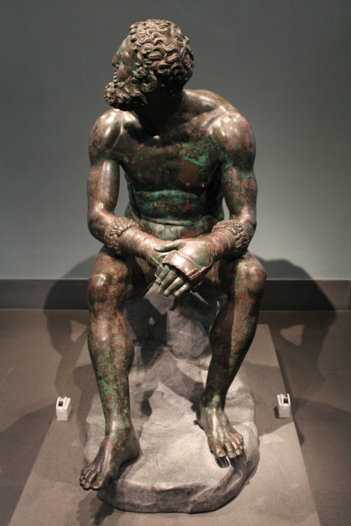 """The Boxer of the Quirinal"" Greek bronze, circa 330BC Found on the slopes of the Quirinal Hill in 1885"