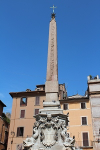 The Fontana del Pantheon features an Egyptian obelisk from the reign of Ramses II
