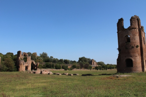 The starting gates of the Circus of Maxentius