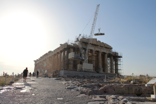The Parthenon basks in the early morning sun