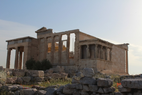 The Erechtheion viewed from the southwest