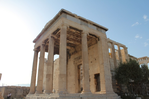 Erechtheion - the entrance to the western portion of the temple that was divided into three sections, dedicated to Poseidon Erectheus, Hephaestus and a hero named Boutes.