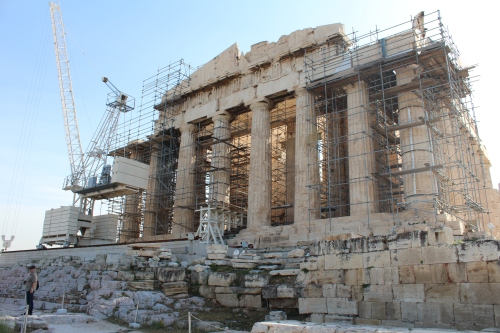 Ongoing restoration work