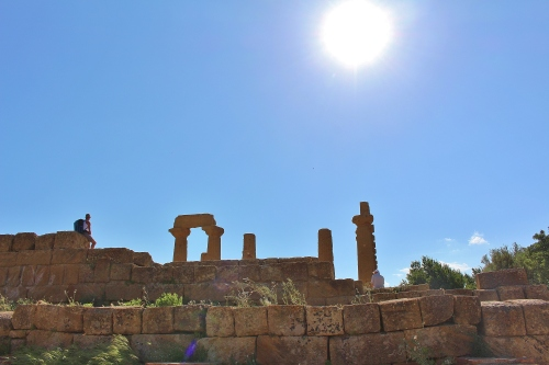 A huge altar stands before the Temple of Hera, now used mainly for people to get good shots with their cameras!