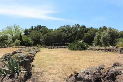 The scant remains of Temple B, thought to be dedicated to Aphrodite