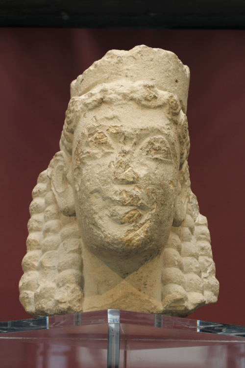 Head of a female goddess found in Syracuse, dating back to the early 6thC BC