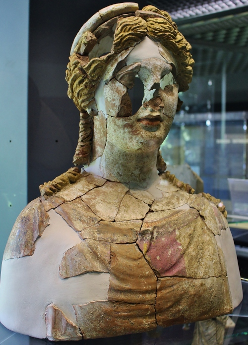 Early 4thC BC terracotta bust