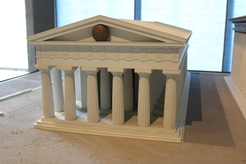 Model recreating the Temple of Athena