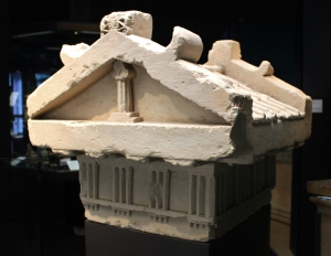 Limestone finial of a funerary monument found in Gela. 6thC BC
