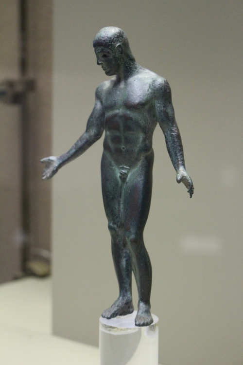 The Mendolito Ephebe, a small bronze statuette of an athlete circa 460 BC