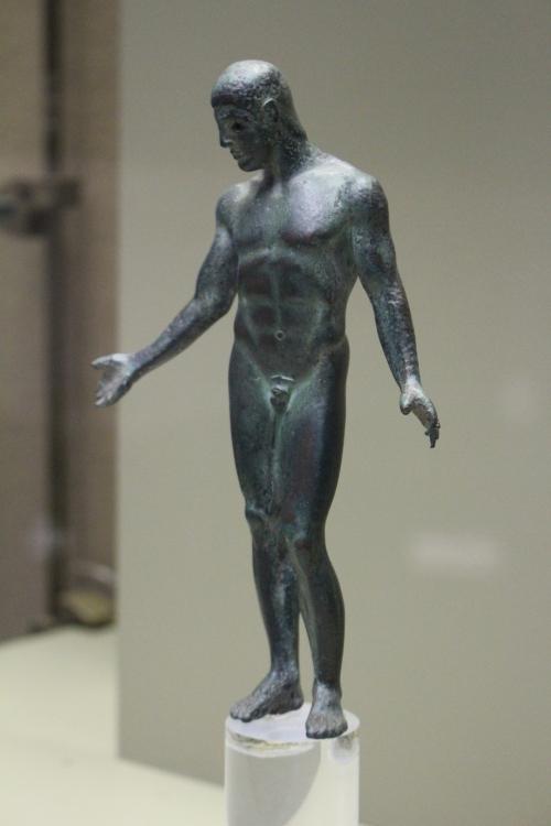 The Mendolito Ephebe, a small bronze statuette of an athlete circa 460 BC
