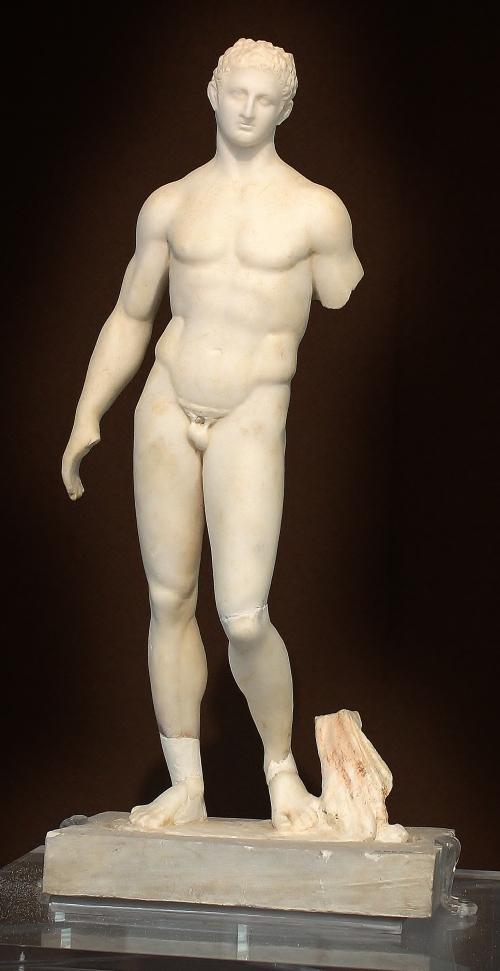 Early 3rdC BC Greek marble depicting Herakles resting.