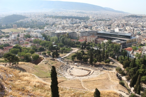 The Theatre of Dionysus viewed from the Acropolis
