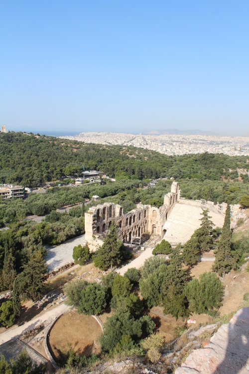 The Odeion of Herodes Atticus viewed from the Acropolis