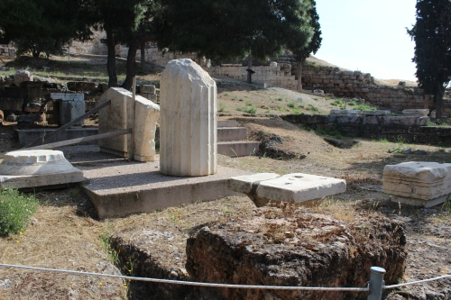 Choregic monument of Nikias. Nikias won the honour of teaching the chorus of boys for theatrical performances in 320 BC.